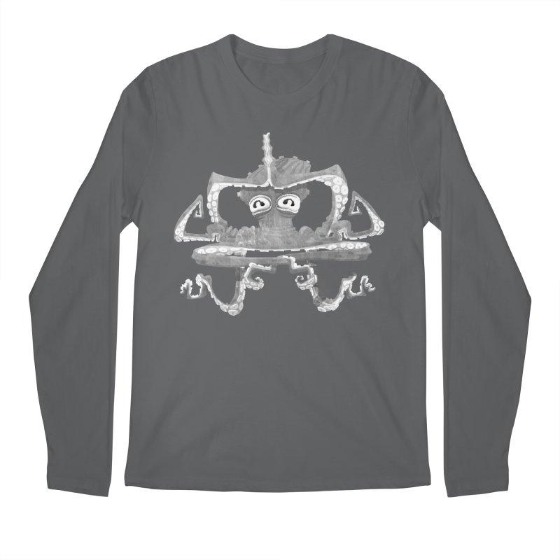 octovasana. white on black Men's Regular Longsleeve T-Shirt by Skrowl's Artist Shop