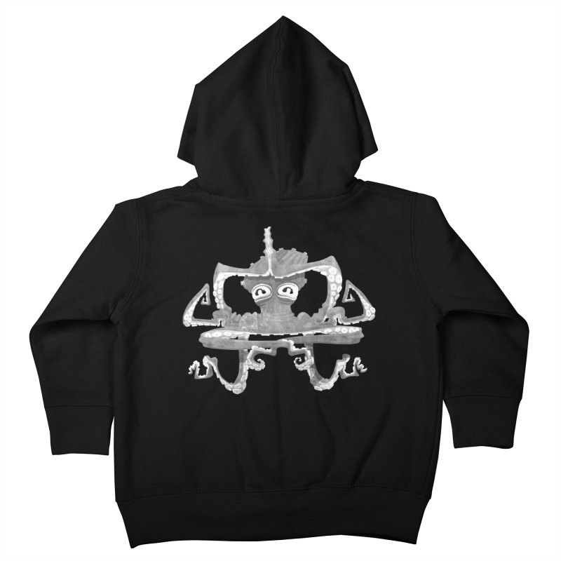 octovasana. white on black Kids Toddler Zip-Up Hoody by Skrowl's Artist Shop