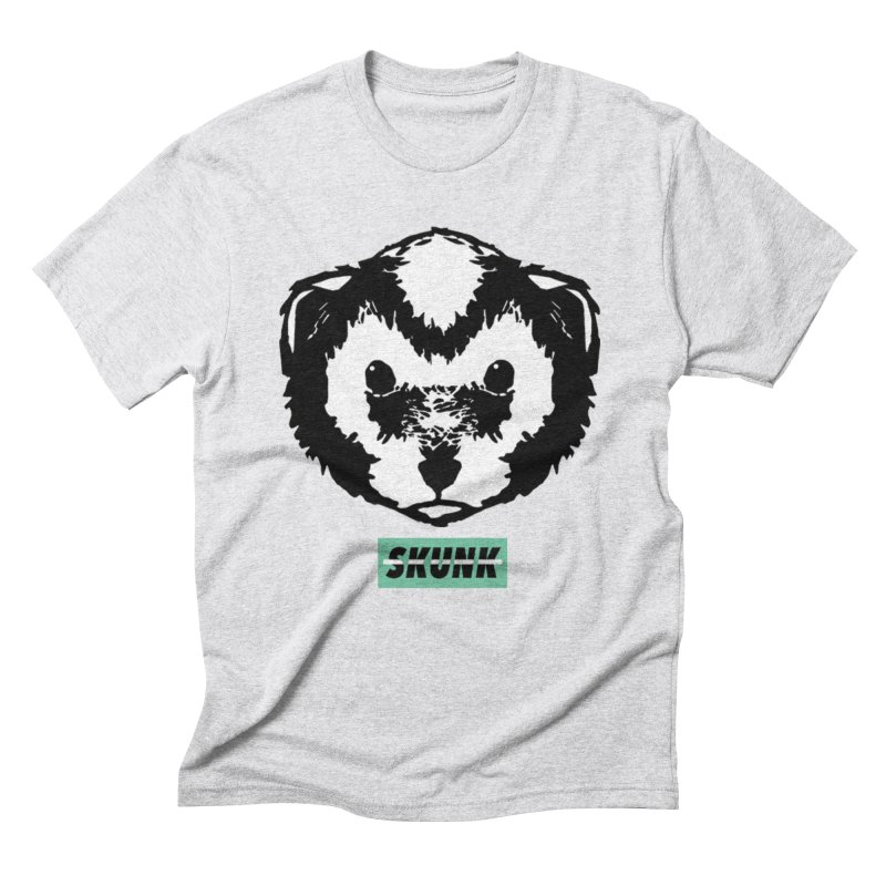 Skunk Theme in Men's Triblend T-Shirt Heather White by Skunk's Shop