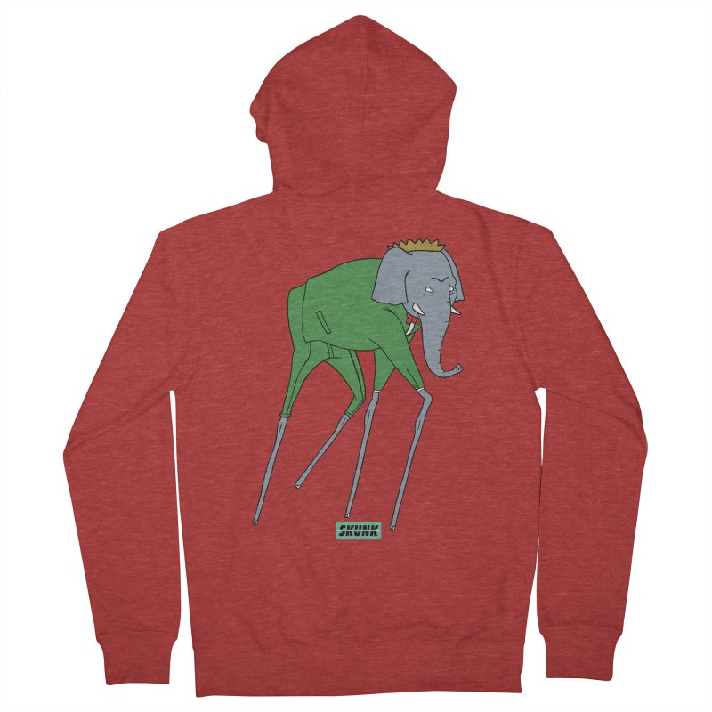Babar - Dali Theme - Skunk Men's French Terry Zip-Up Hoody by Skunk's Shop