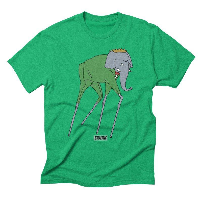 Babar - Dali Theme - Skunk in Men's Triblend T-Shirt Tri-Kelly by Skunk's Shop