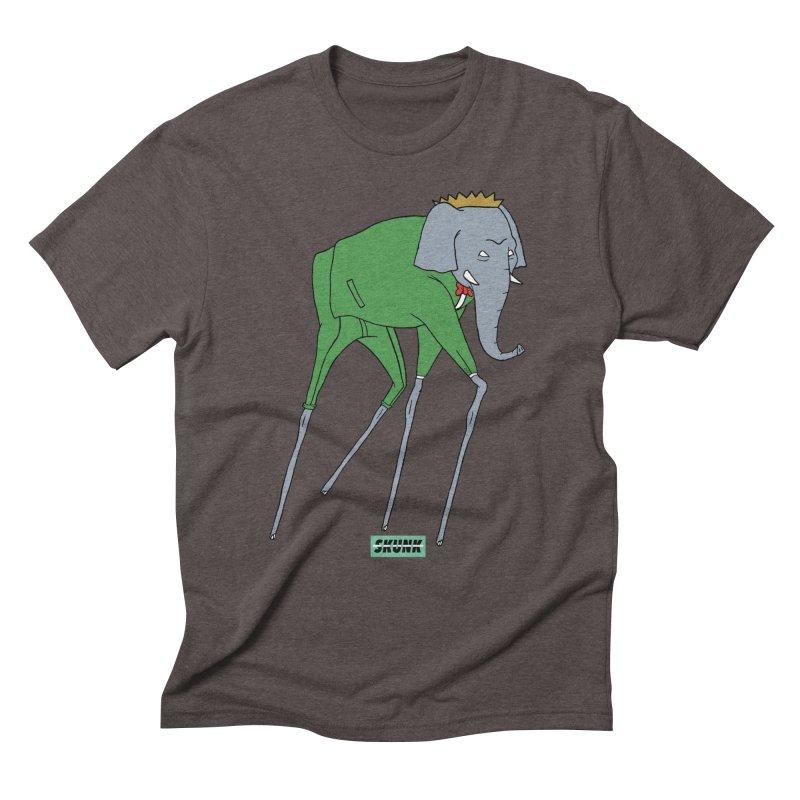 Babar - Dali Theme - Skunk Men's Triblend T-Shirt by Skunk's Shop