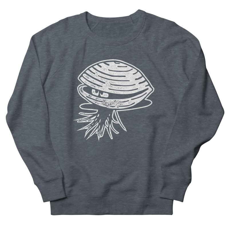 Bearded  Hipster Clams Women's French Terry Sweatshirt by Slap Happy Ultd Emporium