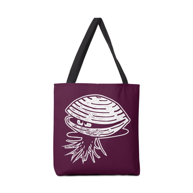 Bearded  Hipster Clams Accessories Tote Bag Bag by Slap Happy Ultd Emporium