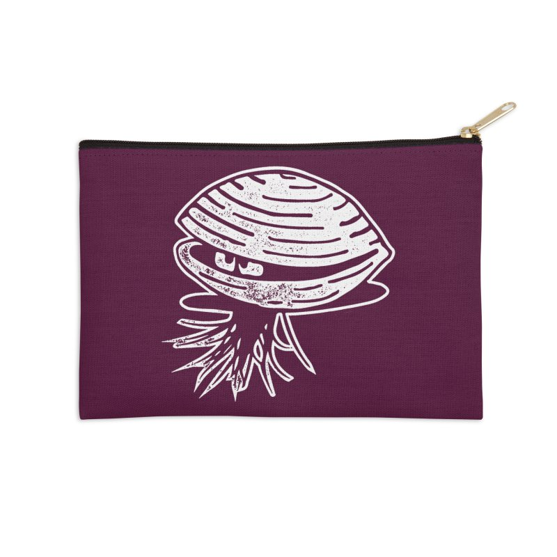 Bearded  Hipster Clams Accessories Zip Pouch by Slap Happy Ultd Emporium