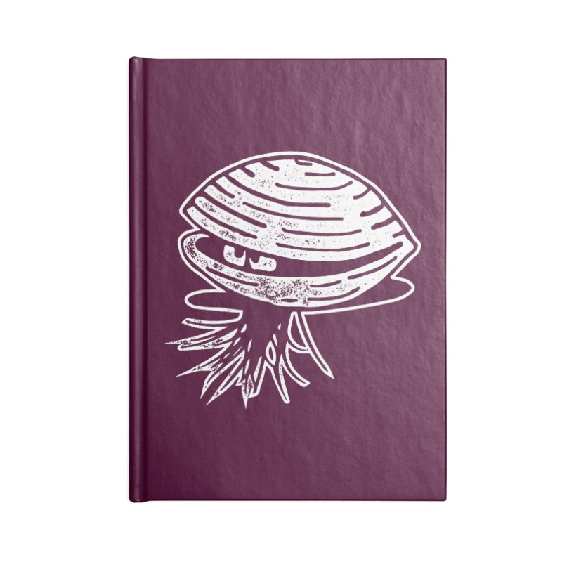 Bearded  Hipster Clams Accessories Blank Journal Notebook by Slap Happy Ultd Emporium