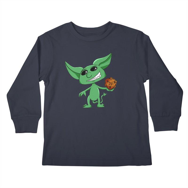 Gaming Imp Kids Longsleeve T-Shirt by Slightly Animated Merch