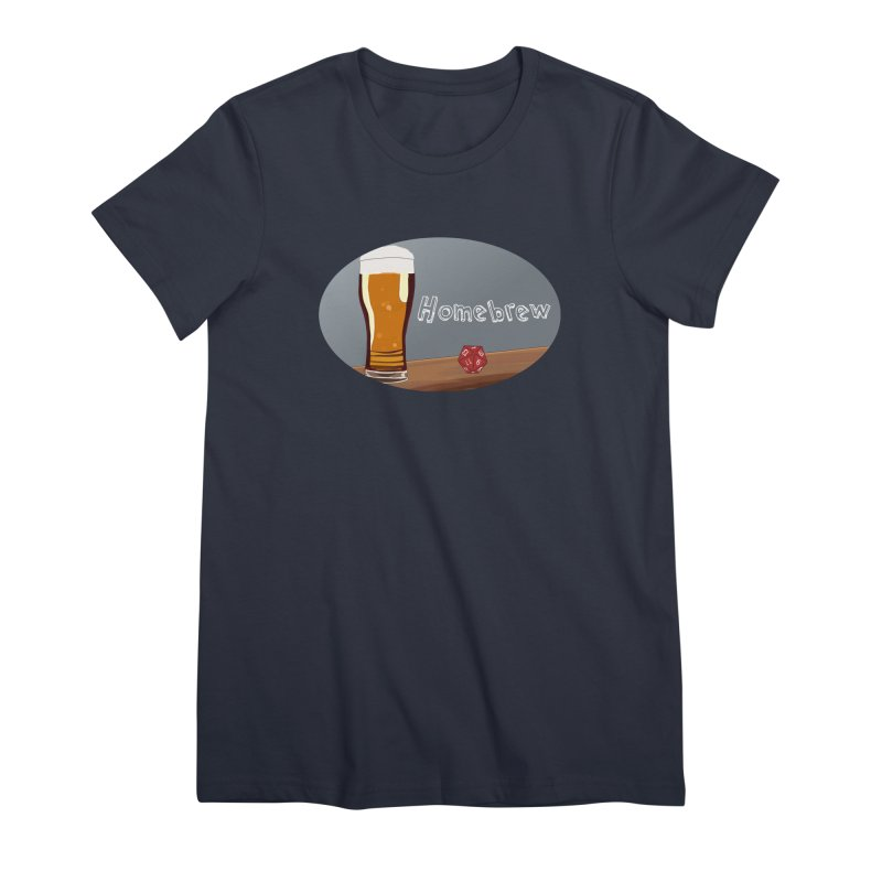 Homebrew Logo Women's Premium T-Shirt by Slightly Animated Merch