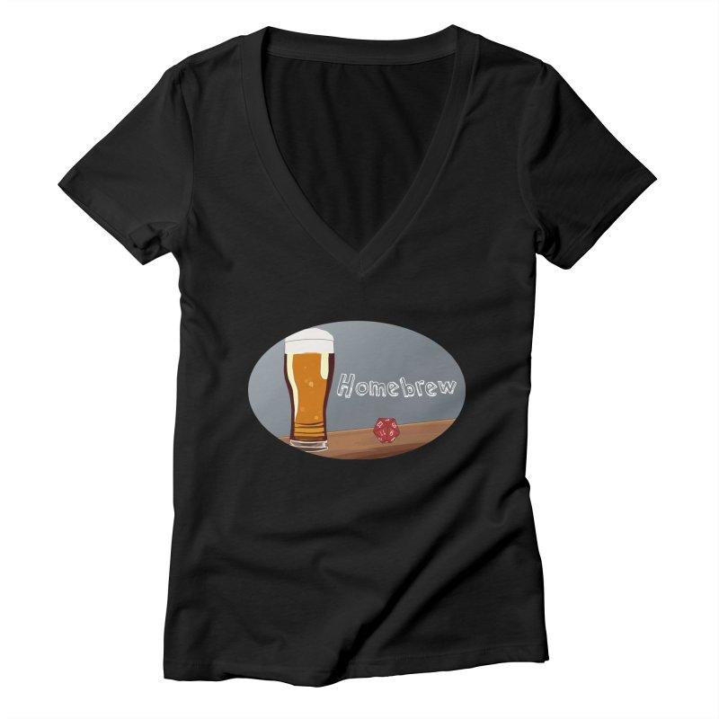 Homebrew Logo Women's Deep V-Neck V-Neck by Slightly Animated Merch