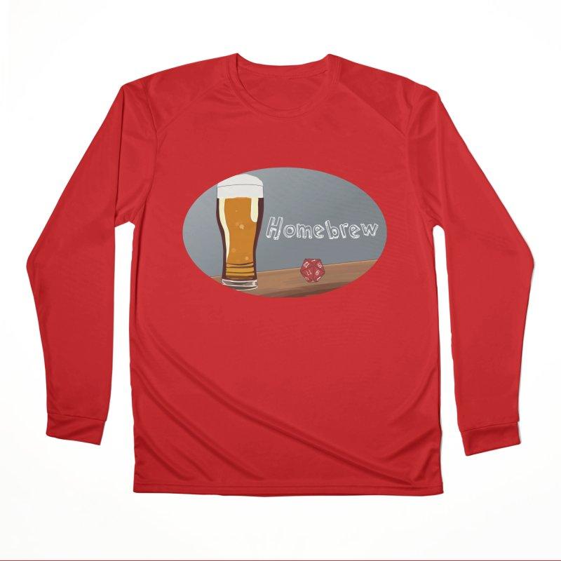 Homebrew Logo Men's Performance Longsleeve T-Shirt by Slightly Animated Merch
