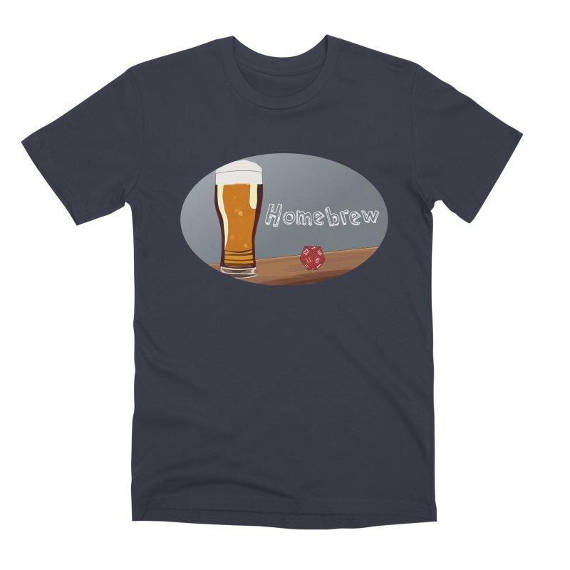 Homebrew Logo Men's Premium T-Shirt by Slightly Animated Merch