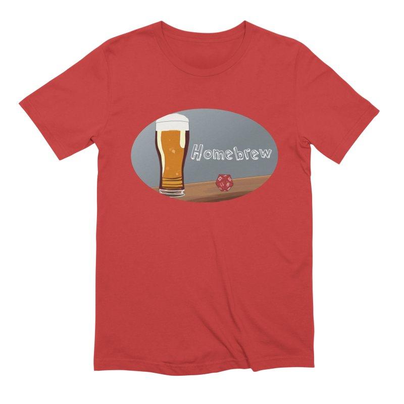 Homebrew Logo Men's Extra Soft T-Shirt by Slightly Animated Merch