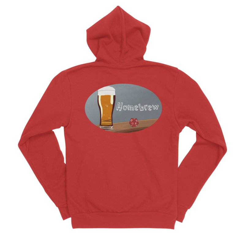 Homebrew Logo Women's Sponge Fleece Zip-Up Hoody by Slightly Animated Merch