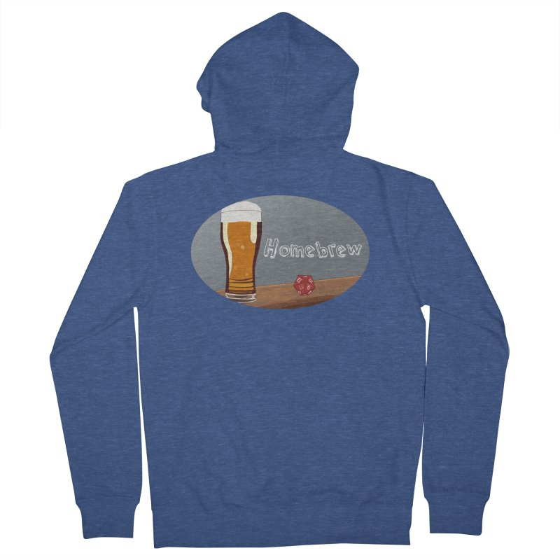 Homebrew Logo Men's Zip-Up Hoody by Slightly Animated Merch