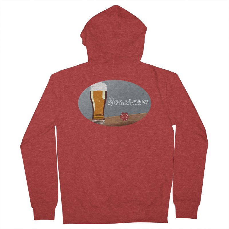 Homebrew Logo Men's French Terry Zip-Up Hoody by Slightly Animated Merch