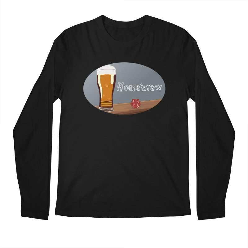 Homebrew Logo Men's Regular Longsleeve T-Shirt by Slightly Animated Merch