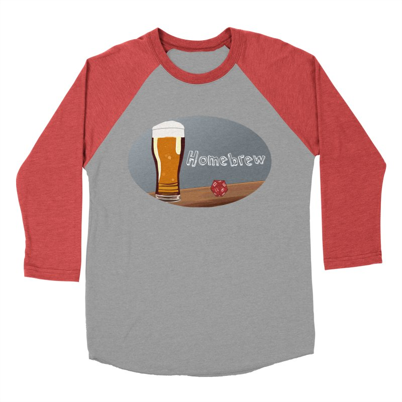 Homebrew Logo Women's Baseball Triblend Longsleeve T-Shirt by Slightly Animated Merch