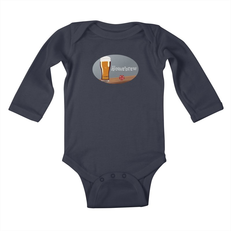 Homebrew Logo Kids Baby Longsleeve Bodysuit by Slightly Animated Merch