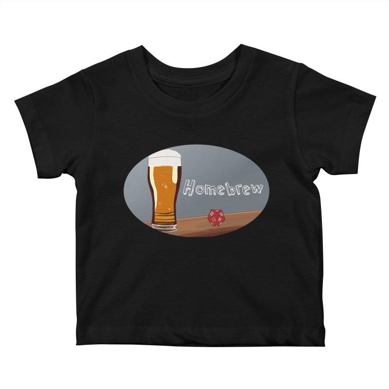 Homebrew Logo Kids Baby T-Shirt by Slightly Animated Merch