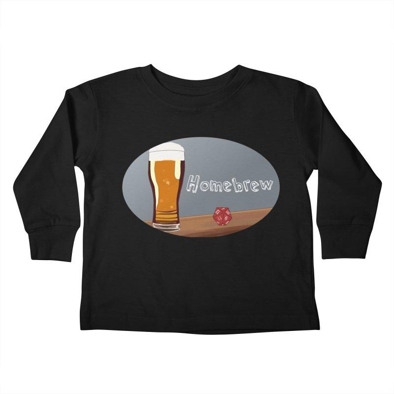Homebrew Logo Kids Toddler Longsleeve T-Shirt by Slightly Animated Merch