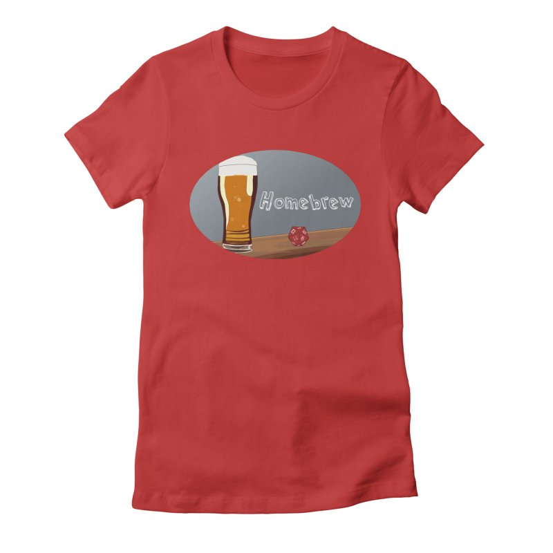 Homebrew Logo Women's Fitted T-Shirt by Slightly Animated Merch