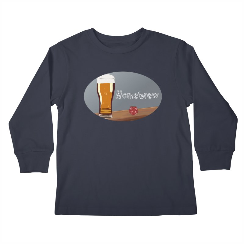 Homebrew Logo Kids Longsleeve T-Shirt by Slightly Animated Merch