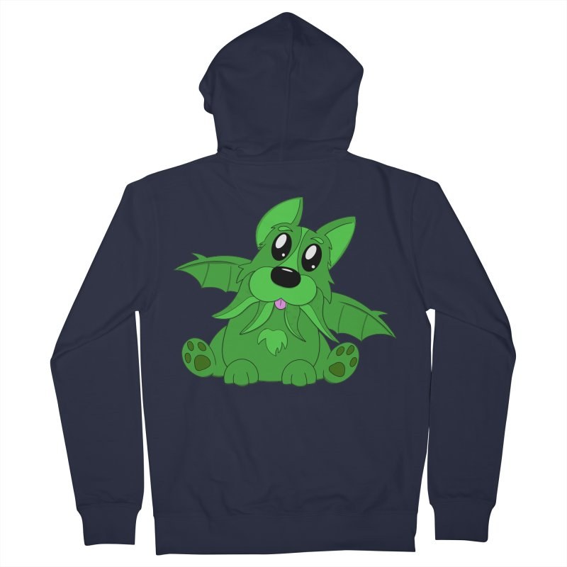 Corg'thulhu Men's French Terry Zip-Up Hoody by Slightly Animated Merch