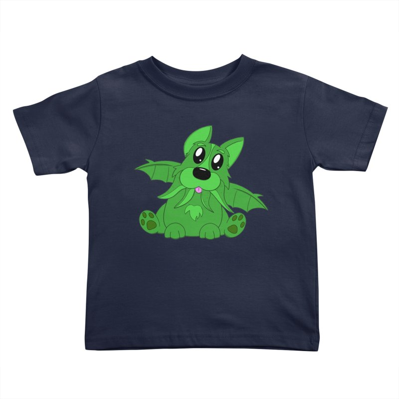 Corg'thulhu Kids Toddler T-Shirt by Slightly Animated Merch