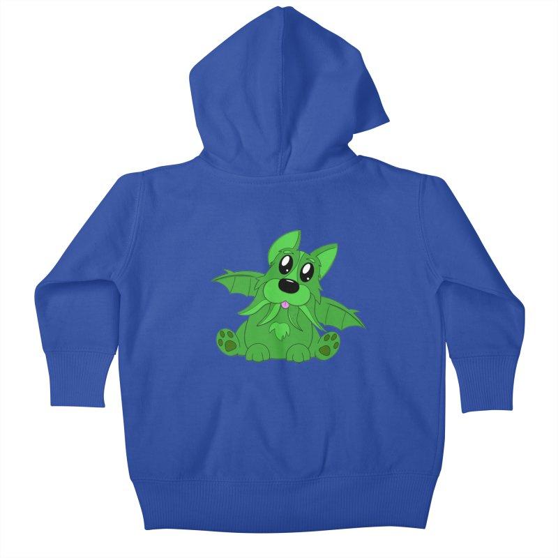 Corg'thulhu Kids Baby Zip-Up Hoody by Slightly Animated Merch