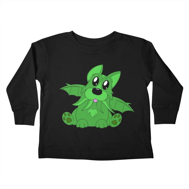 Corg'thulhu Kids Toddler Longsleeve T-Shirt by Slightly Animated Merch
