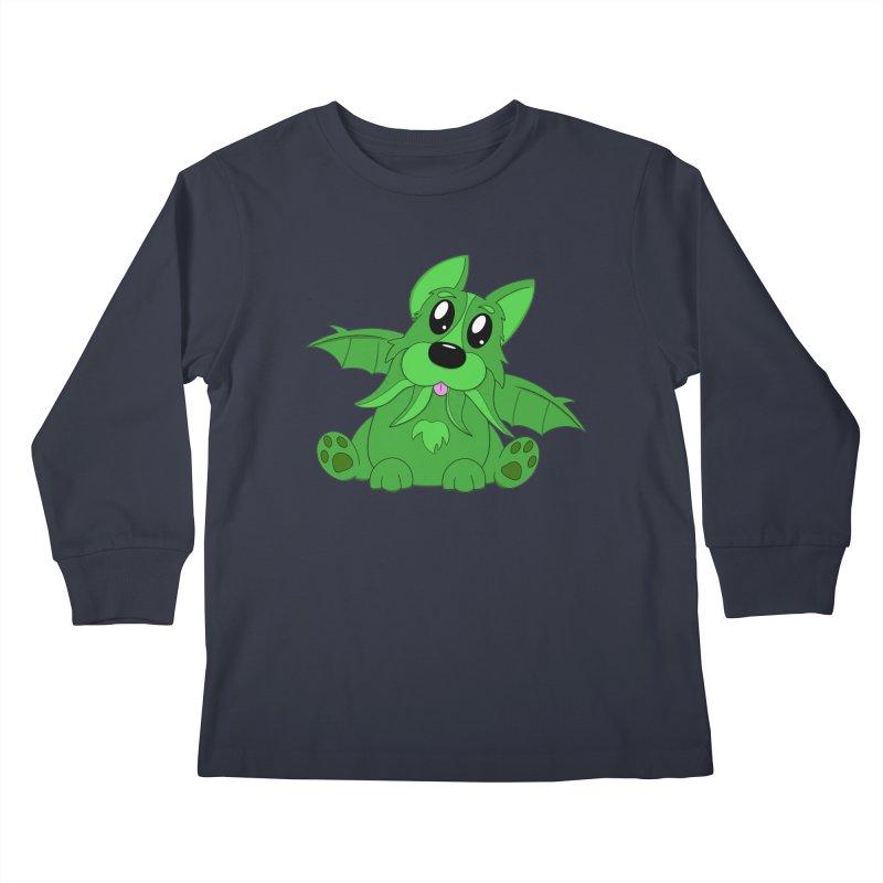 Corg'thulhu Kids Longsleeve T-Shirt by Slightly Animated Merch