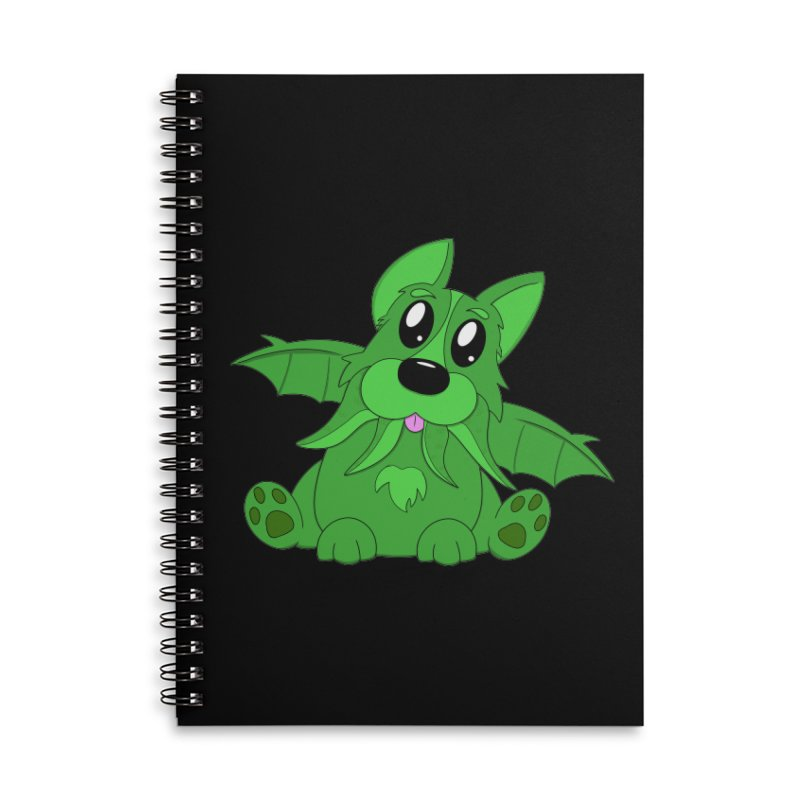 Corg'thulhu Accessories Lined Spiral Notebook by Slightly Animated Merch