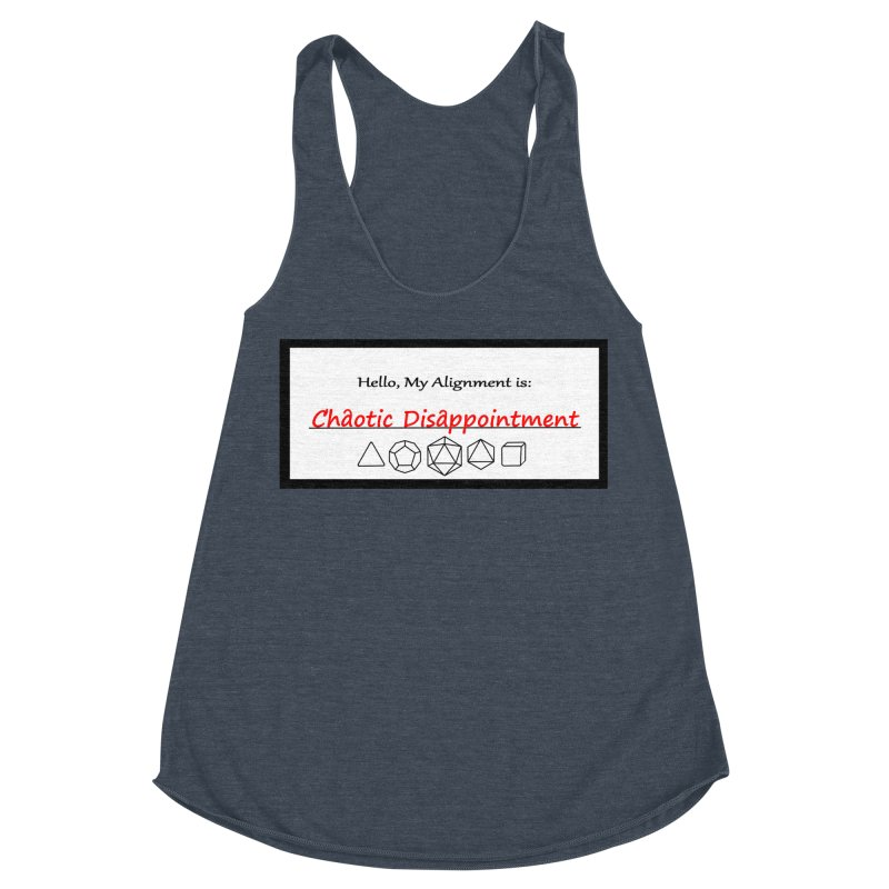 Alignment CD Women's Racerback Triblend Tank by Slightly Animated Merch