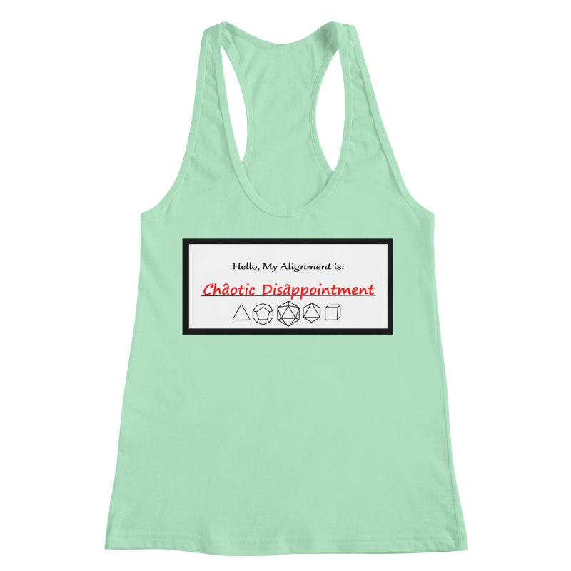 Alignment CD Women's Racerback Tank by Slightly Animated Merch