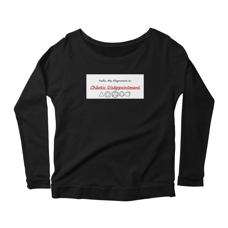 Alignment CD Women's Scoop Neck Longsleeve T-Shirt by Slightly Animated Merch