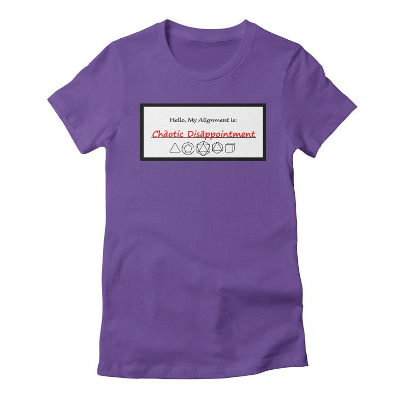 Alignment CD Women's Fitted T-Shirt by Slightly Animated Merch