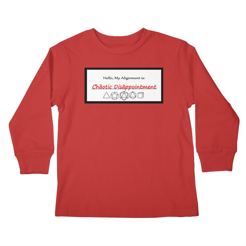 Alignment CD Kids Longsleeve T-Shirt by Slightly Animated Merch