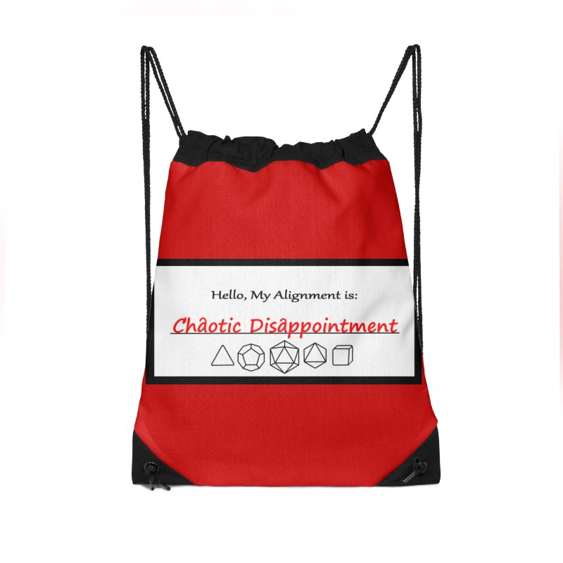 Alignment CD Accessories Drawstring Bag Bag by Slightly Animated Merch