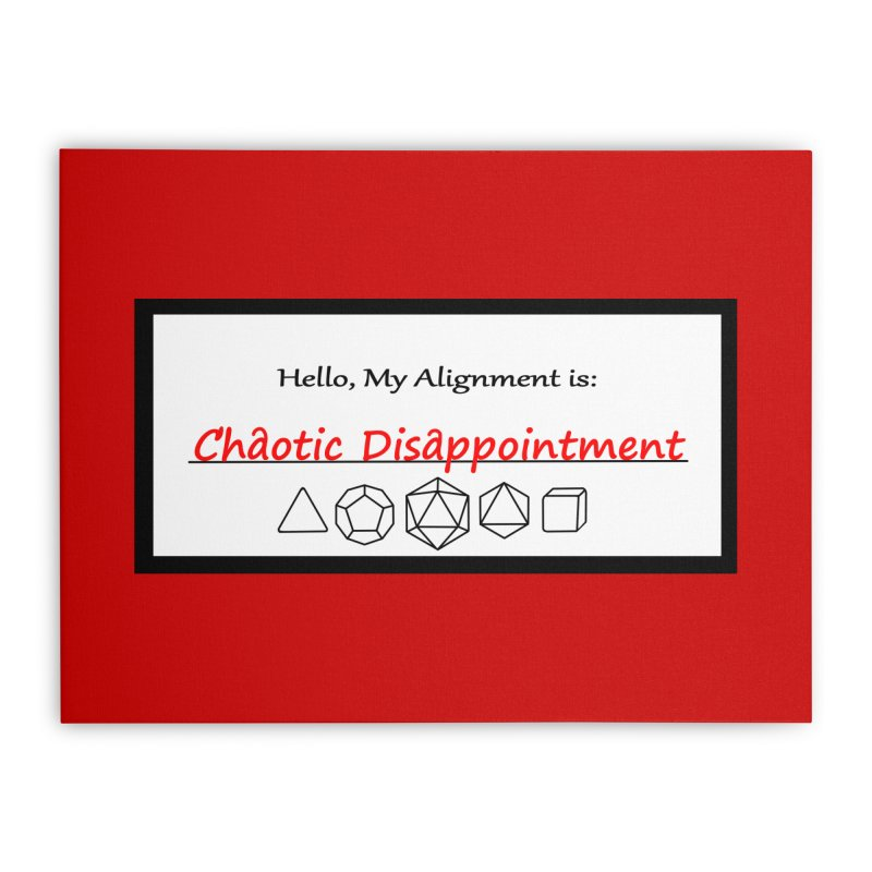 Alignment CD Home Stretched Canvas by Slightly Animated Merch