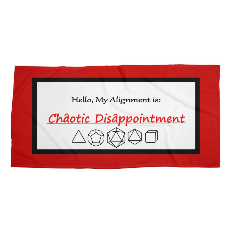 Alignment CD Accessories Beach Towel by Slightly Animated Merch