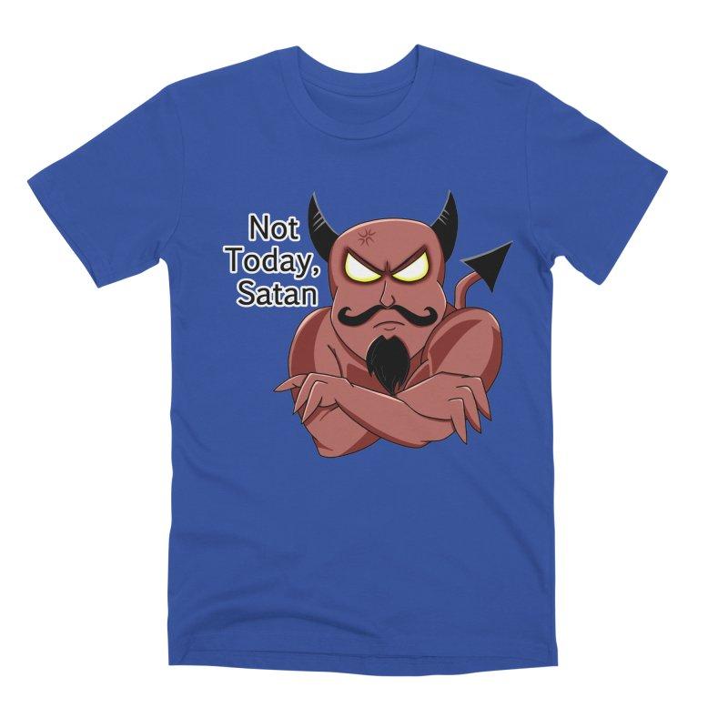 Not Today, Satan Men's Premium T-Shirt by Slightly Animated Merch