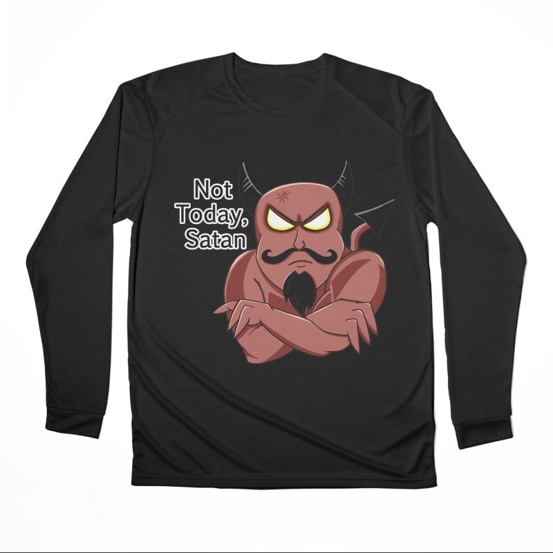 Not Today, Satan Men's Longsleeve T-Shirt by Slightly Animated Merch