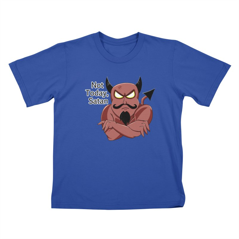 Not Today, Satan Kids T-Shirt by Slightly Animated Merch