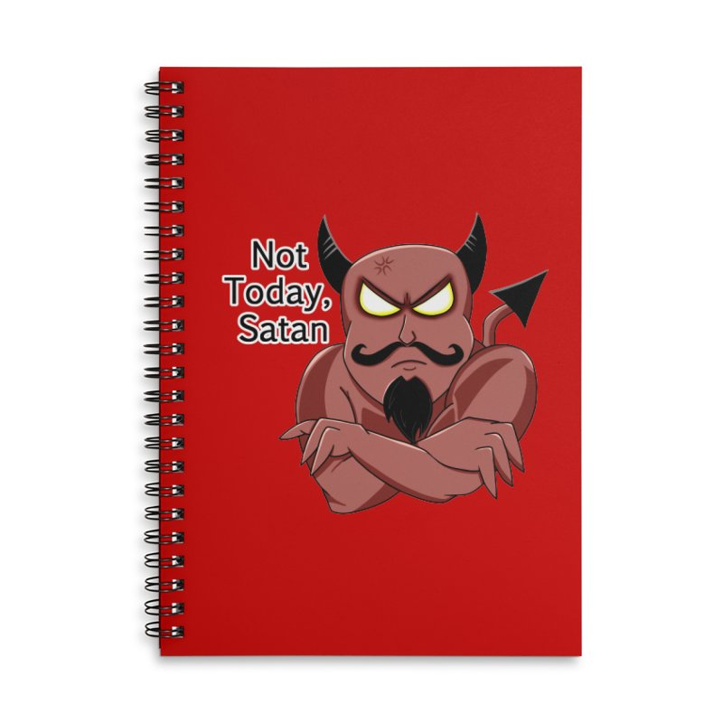 Not Today, Satan Accessories Notebook by Slightly Animated Merch