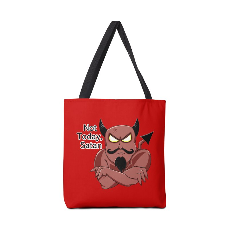 Not Today, Satan Accessories Tote Bag Bag by Slightly Animated Merch