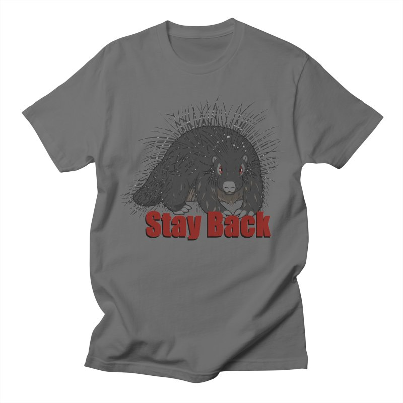 Social Distancing Porcupine Men's T-Shirt by Slightly Animated