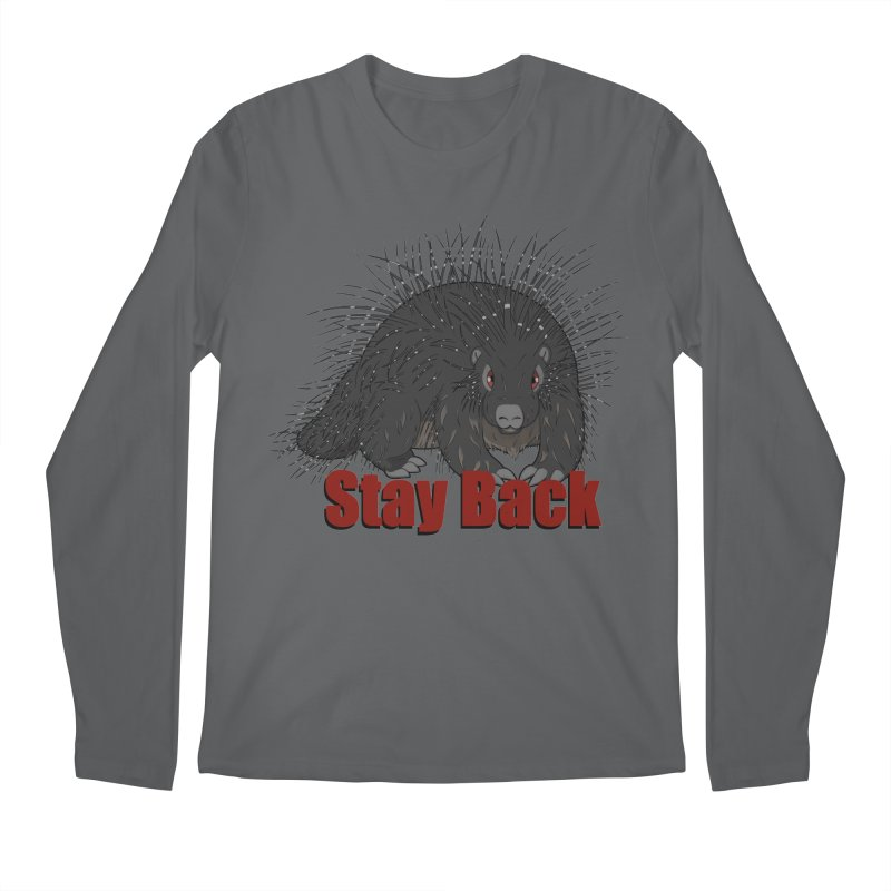 Social Distancing Porcupine Men's Longsleeve T-Shirt by Slightly Animated