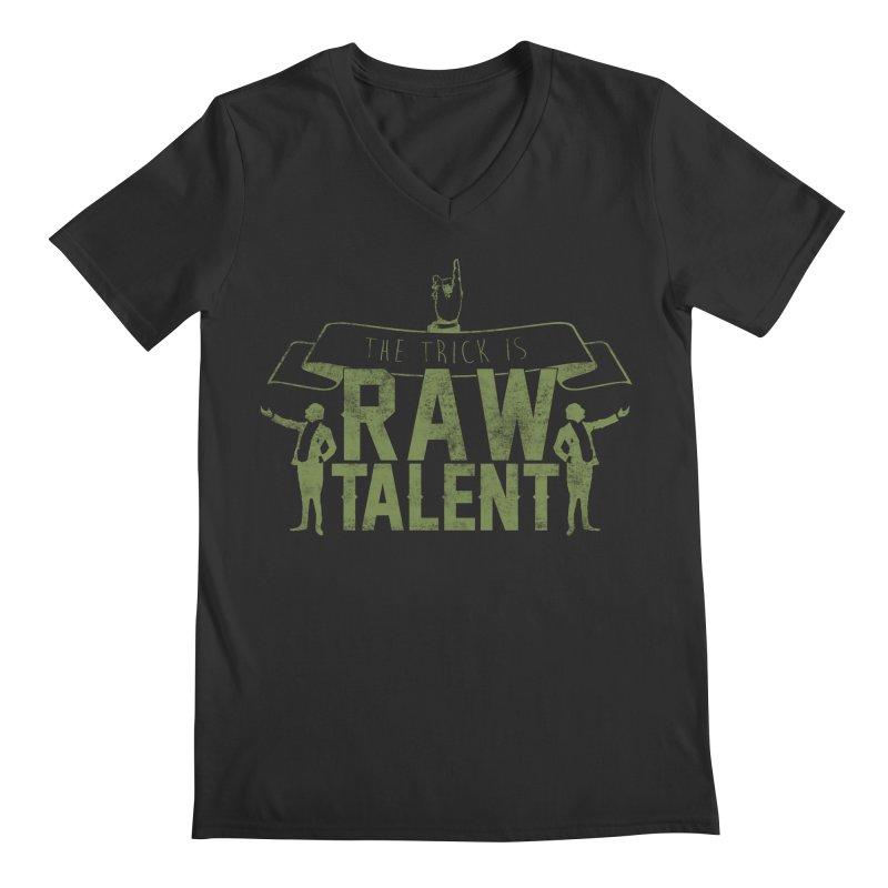 RAW TALENT Men's V-Neck by Slothfox Apparel by Trenn