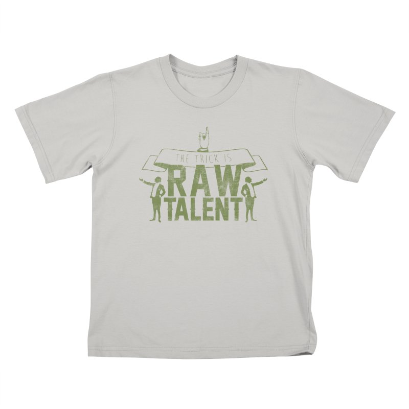 RAW TALENT Kids T-Shirt by Slothfox Apparel by Trenn