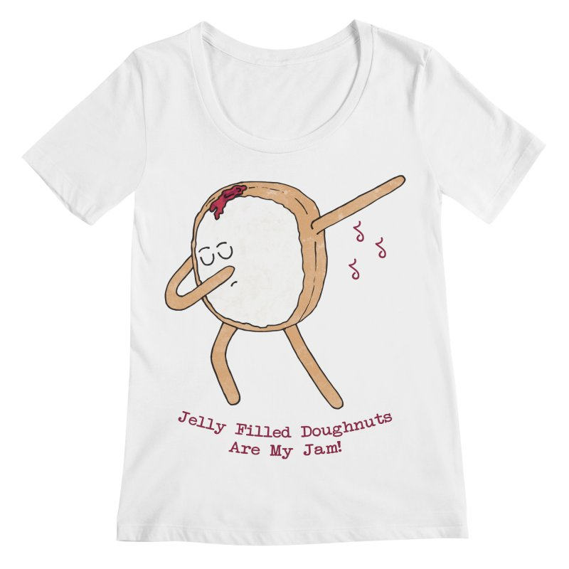 Jelly Filled Jam Women's Scoopneck by Slothfox Apparel by Trenn